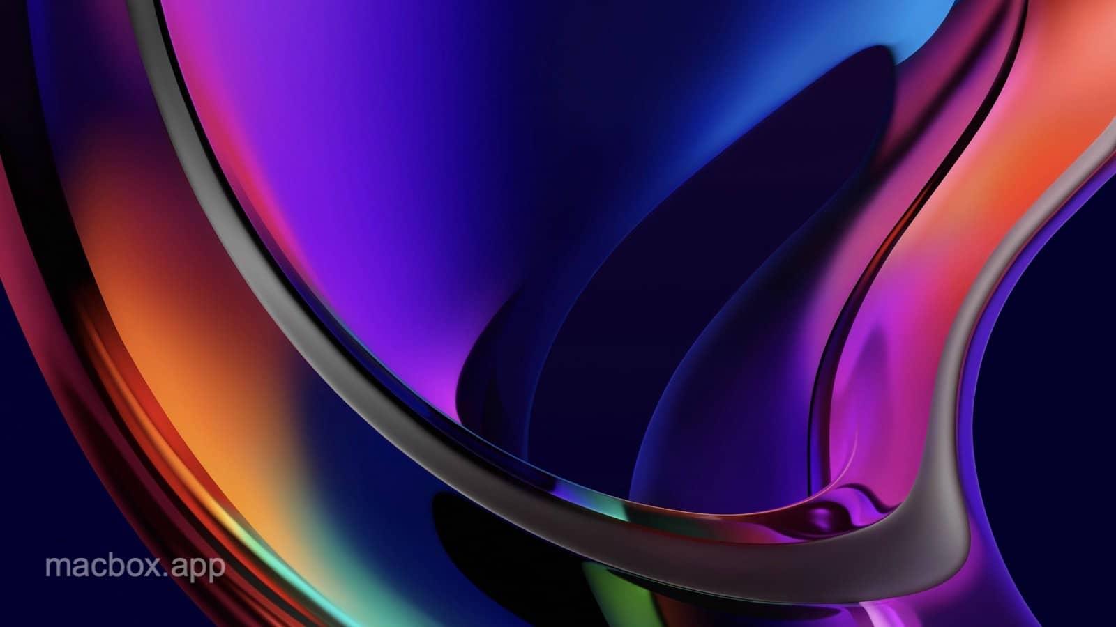 macOS Big Sur iridescence 彩霞动态壁纸