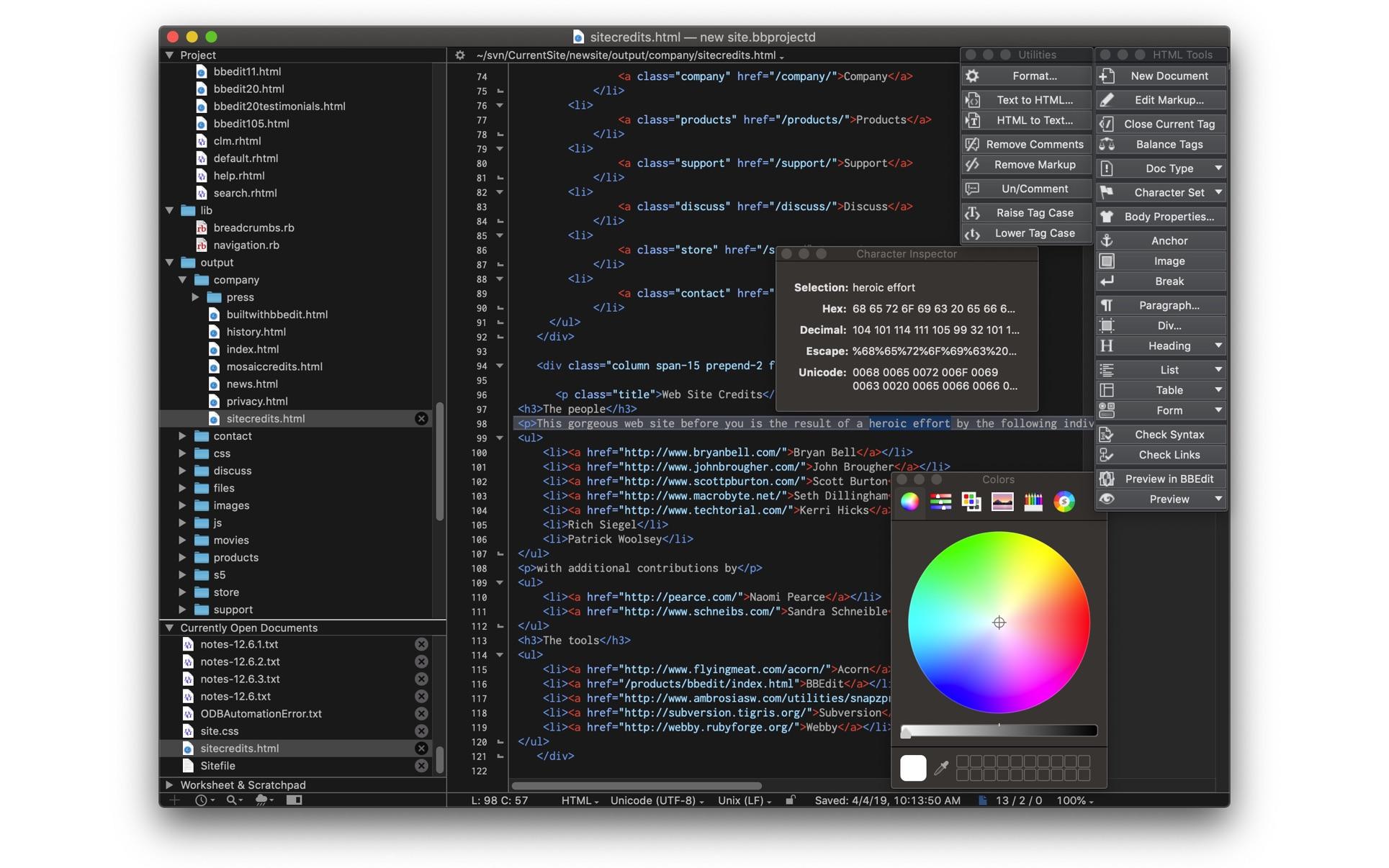 BBEdit for mac 13.5.6