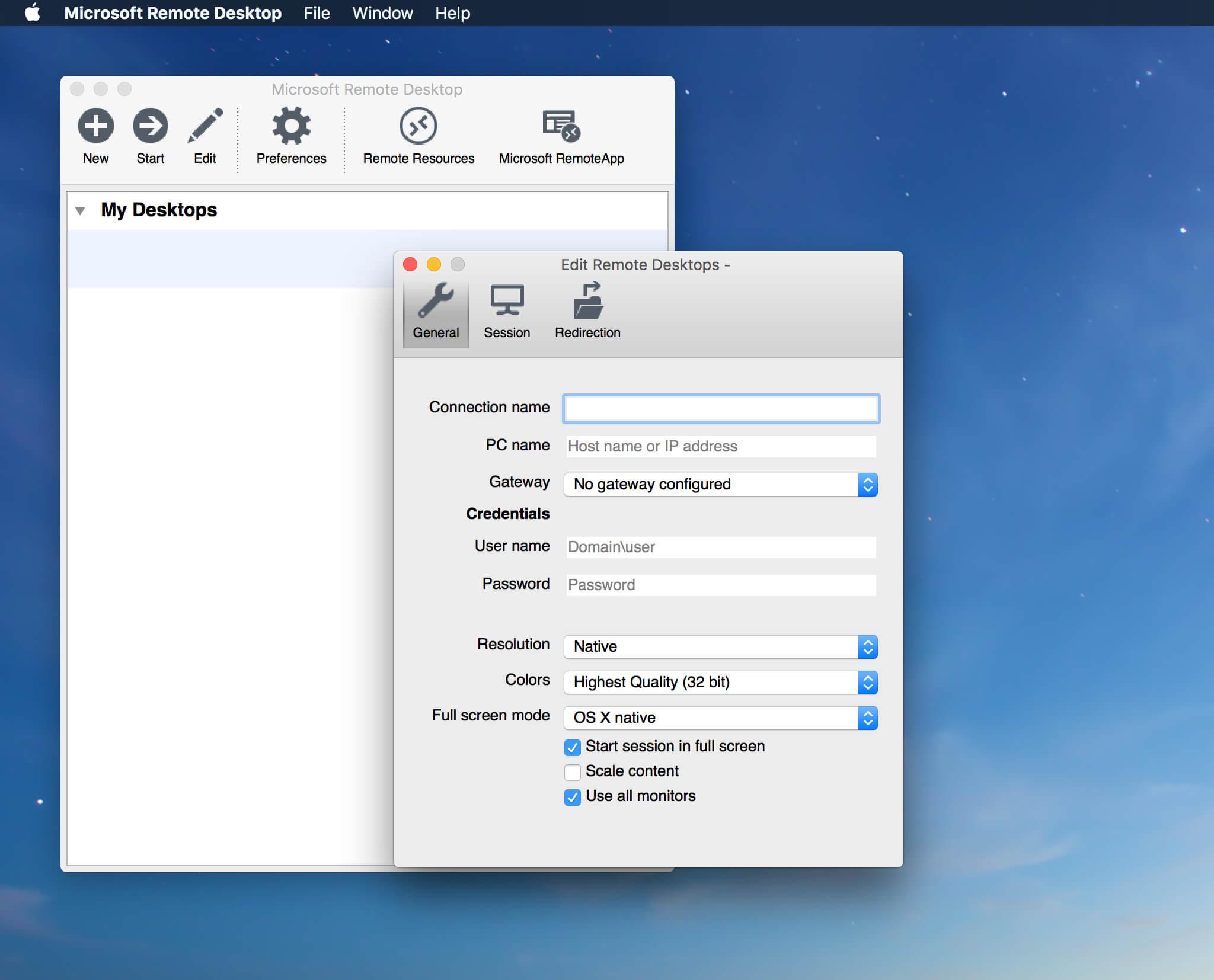 Microsoft Remote Desktop 10.3.3