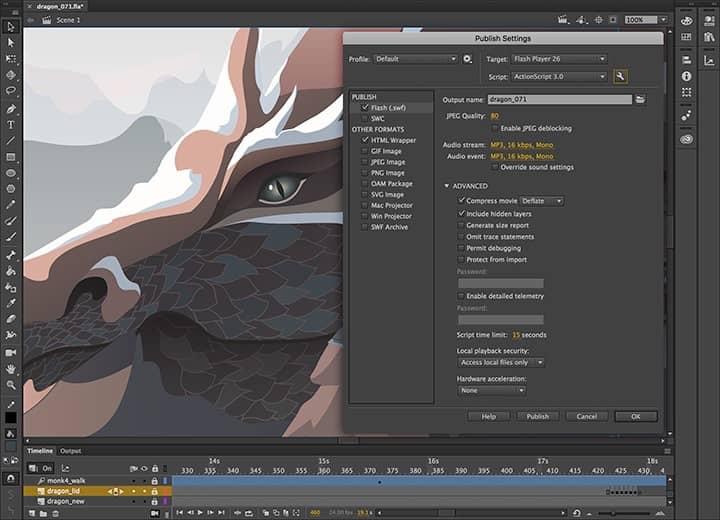 Adobe Animate 2021 发布到多种平台