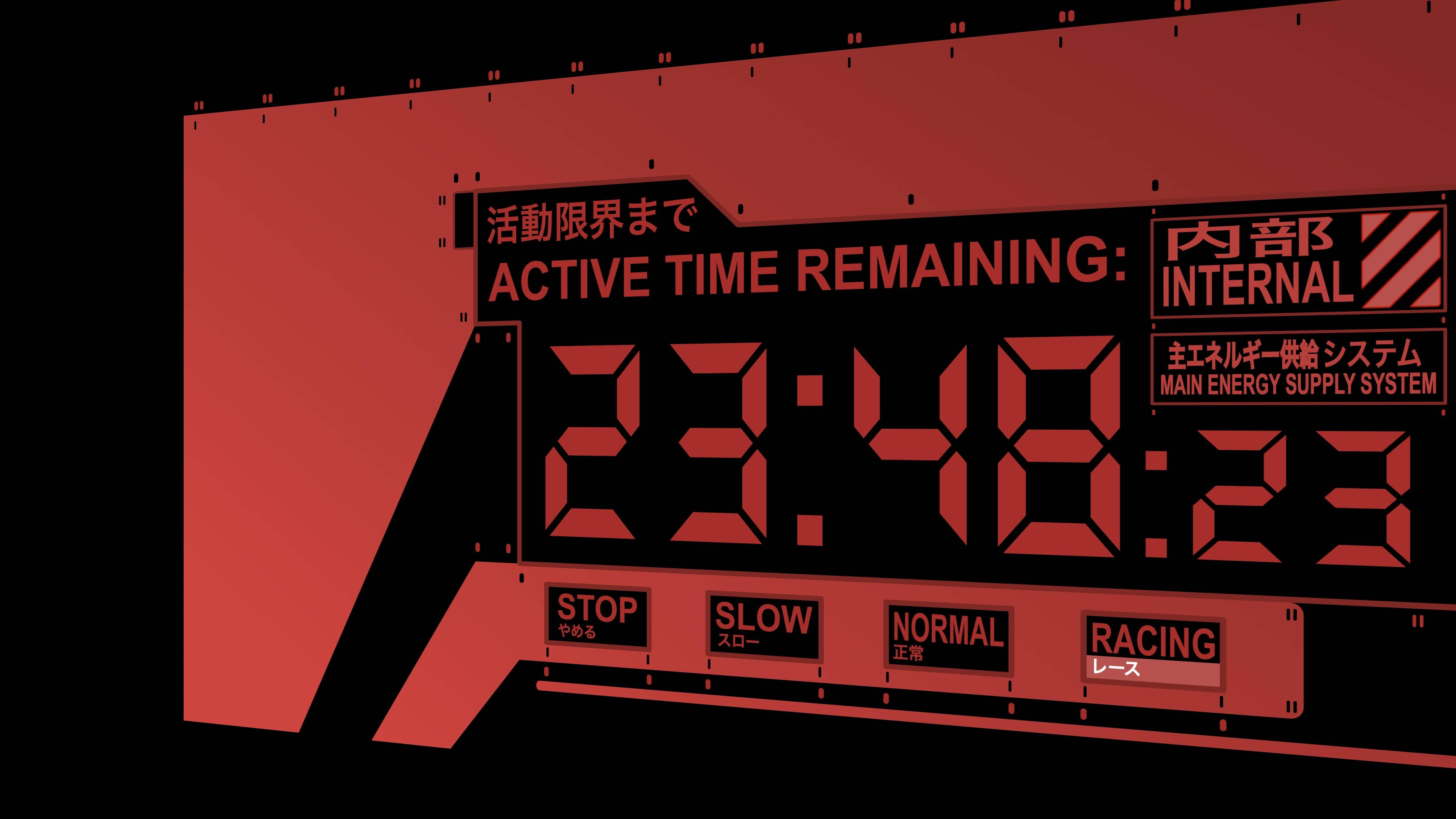 红色风格Simple Clock Screensaver mac屏保