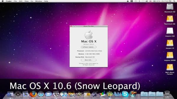 Mac OS X 10.6(Snow Leopard 雪豹)