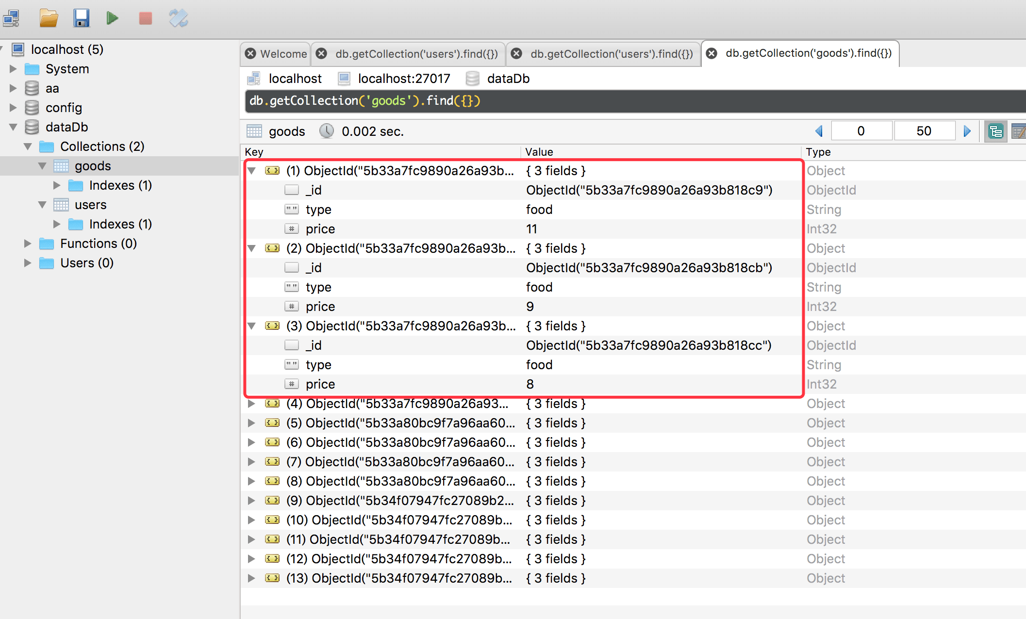 Robo 3T 数据库管理