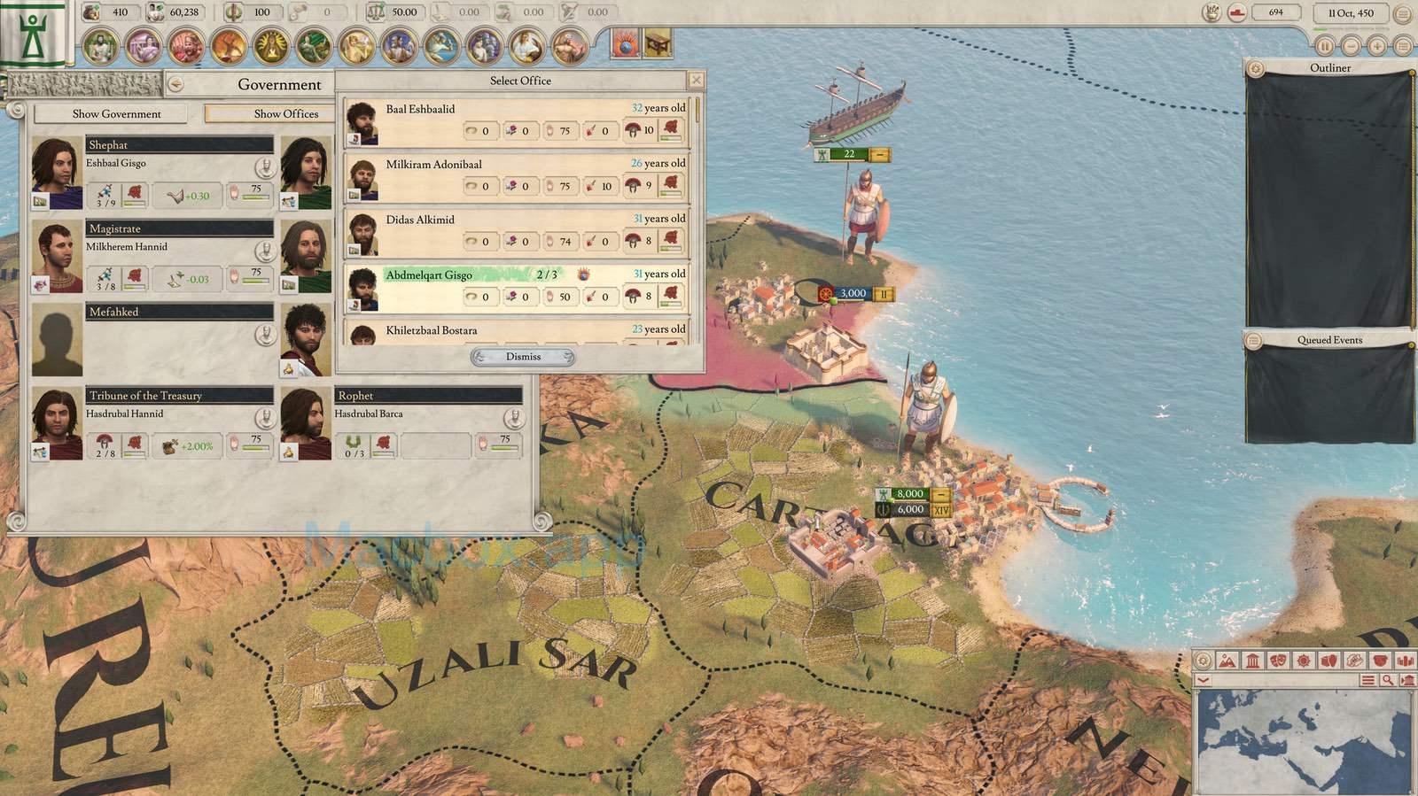 《Imperator: Rome》 游戏界面