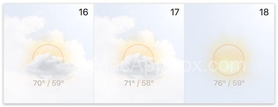BusyCal天气预报
