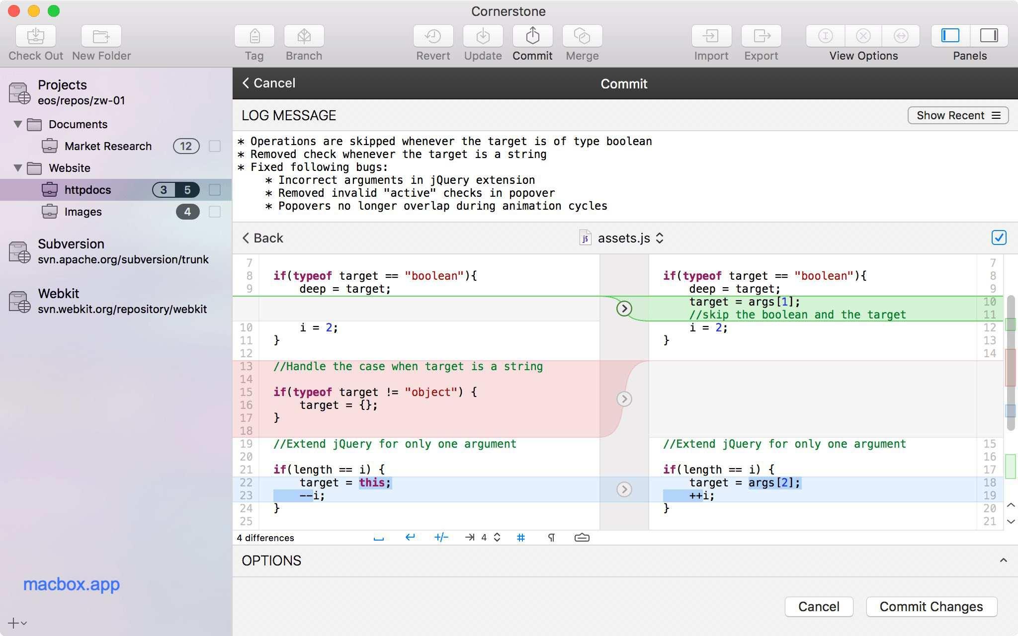 Cornerstone for for mac 代码版本对比