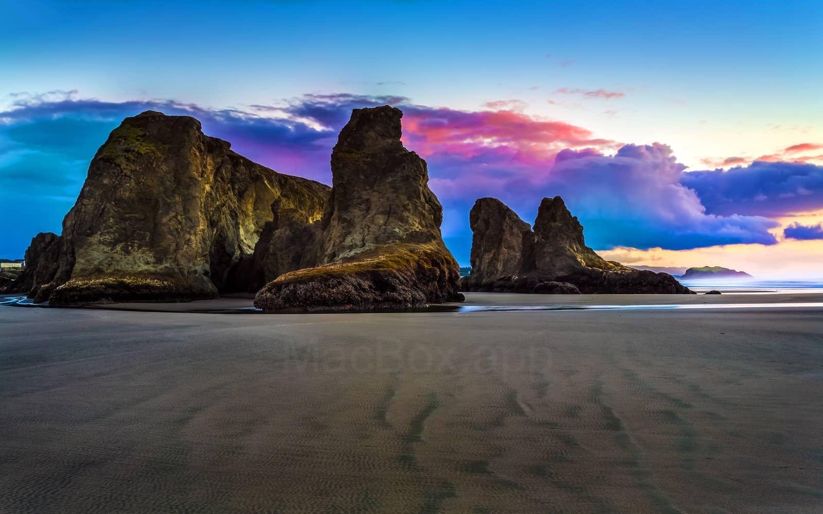 美国俄勒冈州班顿的海滩